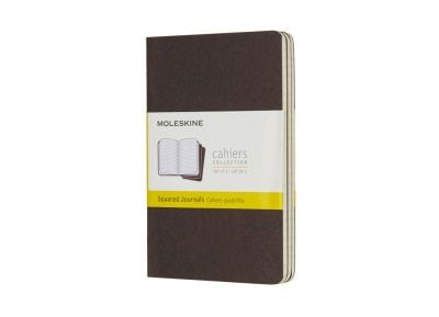 Σημειωματάριο Moleskine Squared Cahier Coffee Brown - Small (3 Τεμάχια)