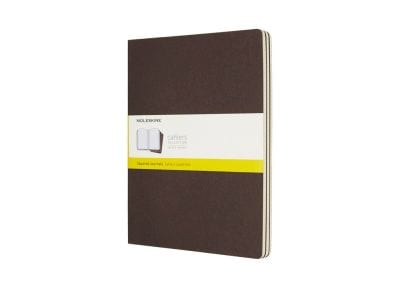 Σημειωματάριο Moleskine Squared Cahier Coffee Brown - Large (3 Τεμάχια)