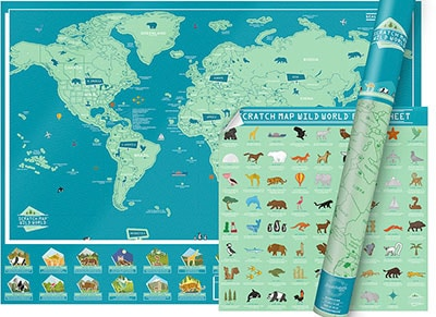 SCRATCH MAP WORLD MAP