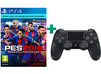 Pro Evolution Soccer 2018 D1 Premium Edition & Sony DualShock 4 gaming   παιχνίδια ανά κονσόλα   ps4