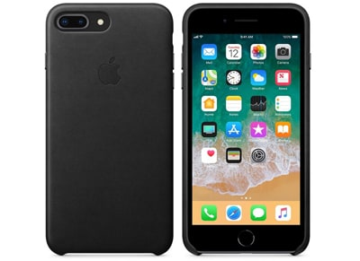 Θήκη iPhone 8 Plus / 7 Plus - Apple Leather Case - Black