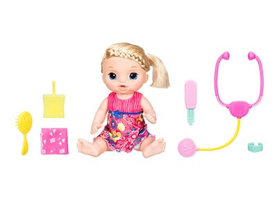 Κούκλα Baby Alive Feel Better Baby Blonde