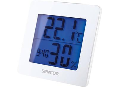 Θερμόμετρο - Υγρόμετρο Εσωτερικού Χώρου με Ξυπνητήρι - Λευκό 29009bbd4c5