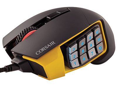 Gaming Mouse Corsair Scimitar PRO RGB Optical MOBA/MMO Κίτρινο gaming   αξεσουάρ pc gaming   gaming mouse