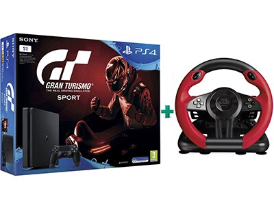 Sony PlayStation 4 - 1TB Slim & Gran Turismo Sport & Τιμονιέρα Speedlink Trailblazer