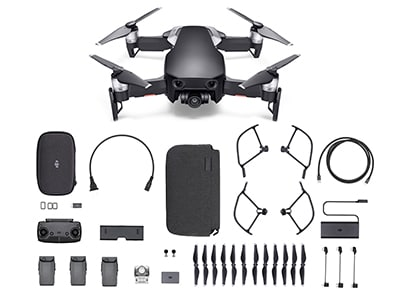 Drone DJI Mavic Air Fly More Combo με 4K Κάμερα Μαύρο