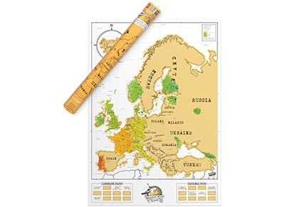 SCRATCH MAP EURO EDITION