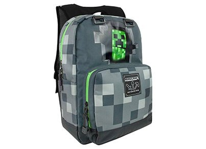 Τσάντα Πλάτης Jinx Minecraft Creepy Creeper  - Backpack Γκρι