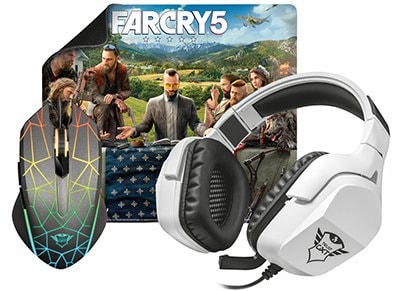 Trust GXT 3-in-1 Gaming Bundle & Far Cry 5 PC Game - Gaming Mouse & Headset & Mousepad