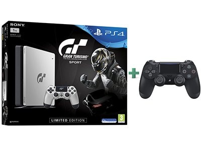 Sony PlayStation 4 - 1TB Slim Limited Edition & Gran Turismo Sport & 2ο χειριστήριο (μαύρο)