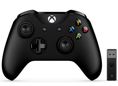 Microsoft Xbox One Controller & Wireless PC Adapter Χειριστήριο Μαύρο