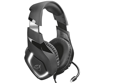 Trust GXT 380 DOXX Illuminated Gaming Headset Μαύρο gaming   αξεσουάρ pc gaming   gaming headsets