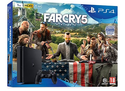 Sony PS4 Slim 1TB Μαύρο & Far Cry 5