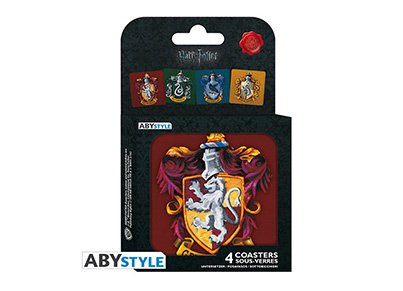 Σουβέρ Abysse Corp Harry Potter - Σετ 4 Τεμαχίων gaming   gaming cool stuff   merchandise