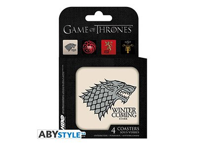 Σουβέρ Abysse Corp Game of Thrones - Σετ 4 Τεμαχίων gaming   gaming cool stuff   merchandise