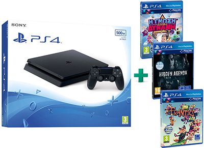 Sony PS4 500GB Μαύρο & Frantics & Hidden Agenda & Knowledge is Power