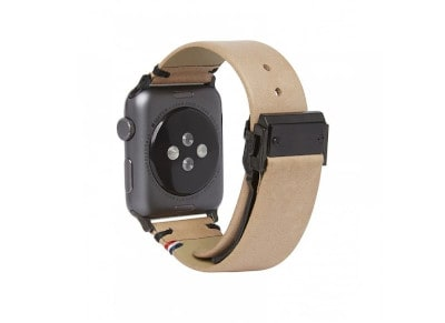 Decoded Leather Strap for Apple Watch 42 mm Καφέ