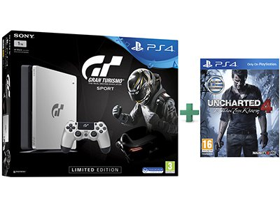 Sony PS4 1TB Slim Limited Edition & Gran Turismo Sport & Uncharted 4: Το Τέλος Ενός Κλέφτη