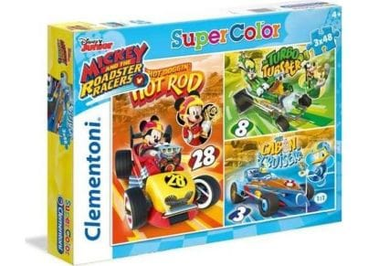 Παζλ Mickey Roadster Racers Super Color Disney (3x48 Κομμάτια)