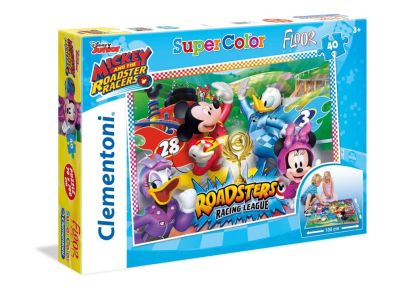 Παζλ Mickey Roadster Racers Super Color Disney (40 Κομμάτια)