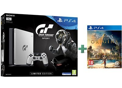 Sony PS4 1TB Slim Limited Edition & Gran Turismo Sport & Assassin's Creed Origins