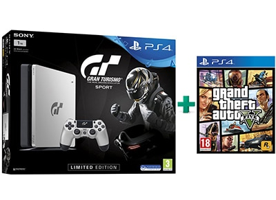 Sony PS4 1TB Slim Limited Edition & Gran Turismo Sport & Grand Theft Auto V