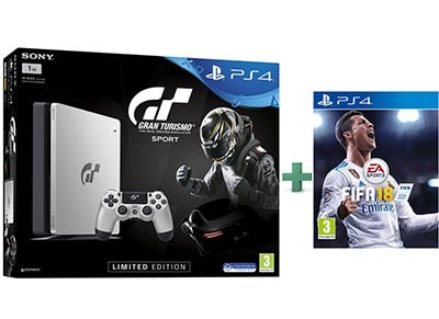 Sony PS4 1TB Slim Limited Edition & Gran Turismo Sport & FIFA 18