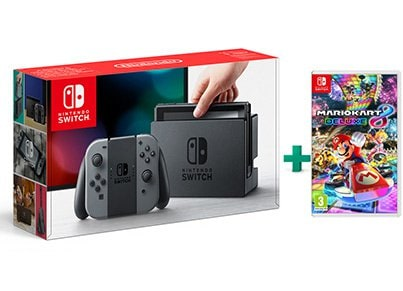 Nintendo Switch Grey & Mario Kart 8 Deluxe