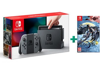 Nintendo Switch Grey & Bayonetta 2 and Bayonetta