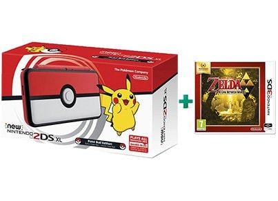 New Nintendo 2DS XL Pokeball Edition & The Legend of Zelda: A Link Between Worlds Selects