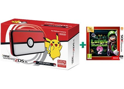 New Nintendo 2DS XL Pokeball Edition & Luigi's Mansion 2 Selects