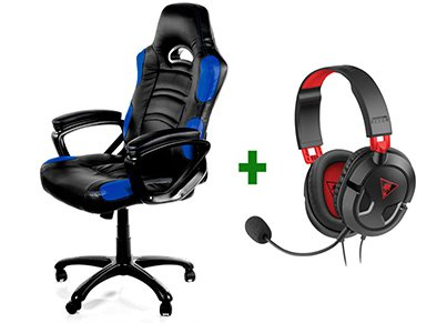 Gaming Chair Arozzi Enzo Μπλε/Μαύρο & Turtle Beach Ear Force Recon 50 Gaming Headset