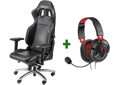 Gaming Chair Sparco Respawn SG-1 Μαύρο & Turtle Beach Ear Force Recon 50 Gaming  gaming   gaming chairs