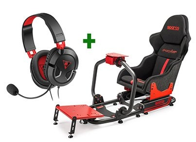 Gaming Seat Sparco Evolve Μαύρο/Κόκκινο & Turtle Beach Ear Force Recon 50 Gaming gaming   gaming chairs