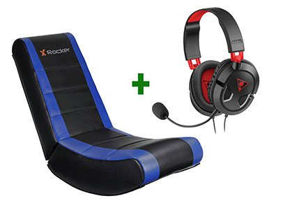 Gaming Chair X-Rocker V Rocker Μπλε/Μαύρο & Turtle Beach Ear Force Recon 50 Gami gaming   gaming chairs