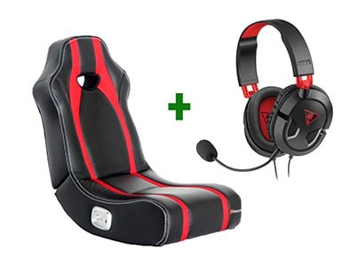 Gaming Chair X-Rocker Spectre Κόκκινο/Μαύρο & Turtle Beach Ear Force Recon 50 Gaming Headset