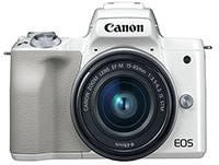 Mirrorless Canon EOS M50 & Φακός EF-M 15-45mm IS Λευκό