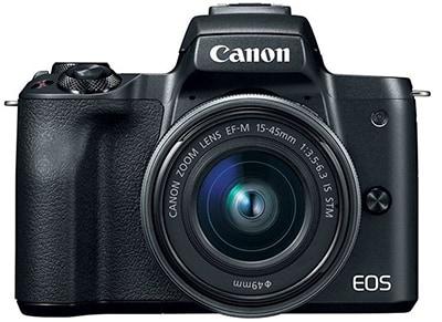 Mirrorless Canon EOS M50 & Φακός EF-M 15-45mm IS Μαύρο