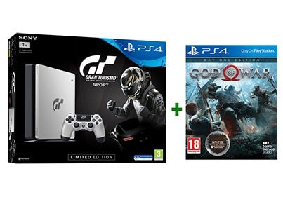 Sony PlayStation 4 1TB Slim & Gran Turismo Sport & God of War Day One Edition