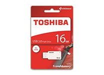 USB Stick Toshiba TransMemory 16GB 3.0 Λευκό (TOS400189)
