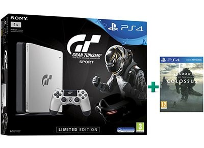 Sony PS4 1TB Slim Ασημί Limited Edition & Gran Turismo Sport & Shadow of the Colossus