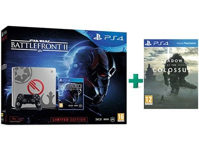 Sony PS4 1TB Slim 1TB Γκρι Limited Edition & Star Wars Battlefront II Deluxe Edition & Shadow of the Colossus