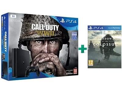 Sony PS4 1TB Slim Μαύρο & Call of Duty: WWII & Shadow of the Colossus