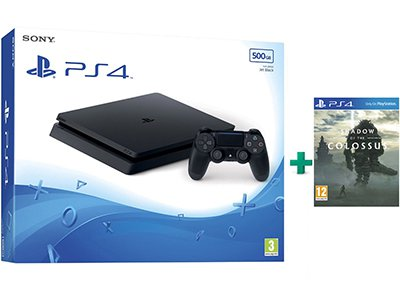 Sony PS4 Slim 500GB Μαύρο & Shadow of the Colossus