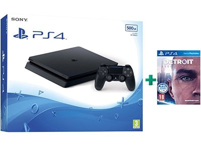 Sony PS4 Slim 500GB Μαύρο & Detroit: Become Human