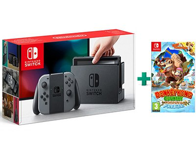Nintendo Switch Grey Κονσόλα & Donkey Kong Country Tropical Freeze