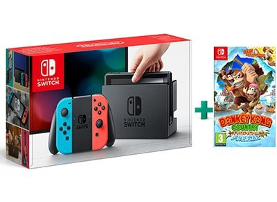 Nintendo Switch Neon Red/Neon Blue Κονσόλα & Donkey Kong Country Tropical Freeze gaming   κονσόλες   nintendo switch