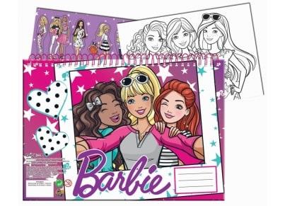 0071b919597 Μπλοκ Ζωγραφικής & Αυτοκόλλητα GIM Barbie 40 Φύλλων