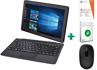"Laptop Quest 11.6"" (Z8350/2GB/32GB/HD 400) Combo V113-BK & Microsoft Starter Pack"