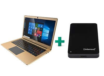 "Laptop Quest 13.3"" Slimbook (N3350/2GB/32GB/HD) QK131-GL & Εξ. σκληρός δίσκος Intenso 1TB"